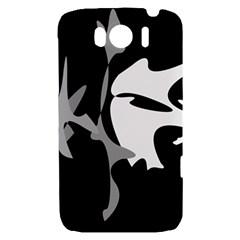 Black and white amoeba abstraction HTC Sensation XL Hardshell Case