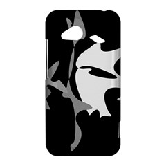 Black and white amoeba abstraction HTC Droid Incredible 4G LTE Hardshell Case