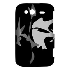 Black and white amoeba abstraction HTC Wildfire S A510e Hardshell Case