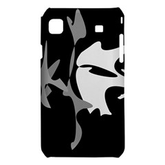 Black and white amoeba abstraction Samsung Galaxy S i9008 Hardshell Case