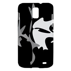 Black and white amoeba abstraction Samsung Galaxy S II Skyrocket Hardshell Case