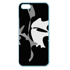 Black and white amoeba abstraction Apple Seamless iPhone 5 Case (Color)
