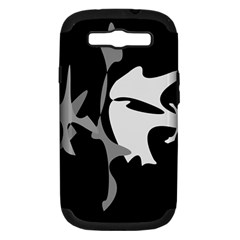Black and white amoeba abstraction Samsung Galaxy S III Hardshell Case (PC+Silicone)
