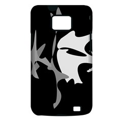 Black and white amoeba abstraction Samsung Galaxy S II i9100 Hardshell Case (PC+Silicone)