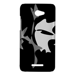 Black and white amoeba abstraction HTC Butterfly X920E Hardshell Case