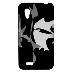 Black and white amoeba abstraction HTC Desire VT (T328T) Hardshell Case