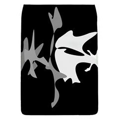 Black and white amoeba abstraction Flap Covers (L)