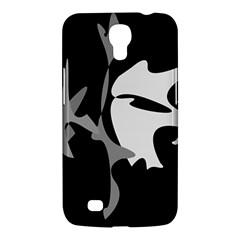 Black and white amoeba abstraction Samsung Galaxy Mega 6.3  I9200 Hardshell Case