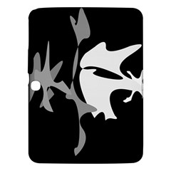 Black and white amoeba abstraction Samsung Galaxy Tab 3 (10.1 ) P5200 Hardshell Case