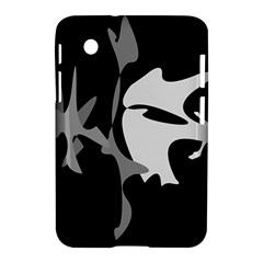 Black and white amoeba abstraction Samsung Galaxy Tab 2 (7 ) P3100 Hardshell Case