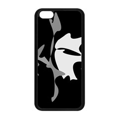Black and white amoeba abstraction Apple iPhone 5C Seamless Case (Black)