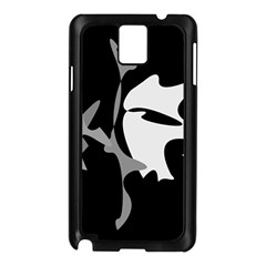 Black and white amoeba abstraction Samsung Galaxy Note 3 N9005 Case (Black)