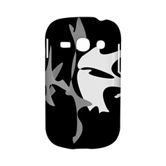 Black and white amoeba abstraction Samsung Galaxy S6810 Hardshell Case