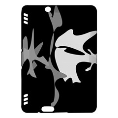 Black and white amoeba abstraction Kindle Fire HDX Hardshell Case