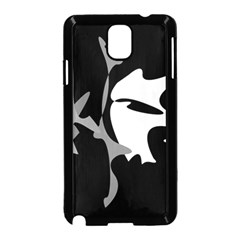 Black and white amoeba abstraction Samsung Galaxy Note 3 Neo Hardshell Case (Black)