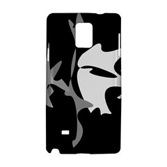 Black and white amoeba abstraction Samsung Galaxy Note 4 Hardshell Case
