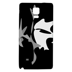 Black and white amoeba abstraction Galaxy Note 4 Back Case