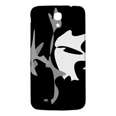Black and white amoeba abstraction Samsung Galaxy Mega I9200 Hardshell Back Case