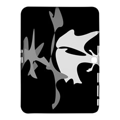 Black and white amoeba abstraction Samsung Galaxy Tab 4 (10.1 ) Hardshell Case