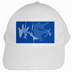 Blue amoeba abstraction White Cap