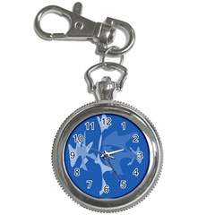Blue amoeba abstraction Key Chain Watches