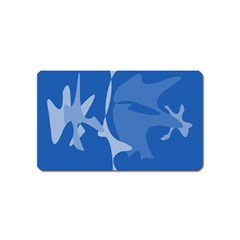 Blue amoeba abstraction Magnet (Name Card)