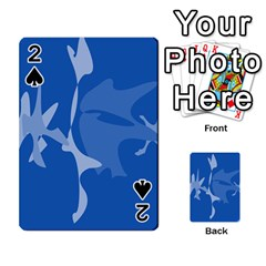 Blue amoeba abstraction Playing Cards 54 Designs