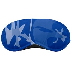 Blue amoeba abstraction Sleeping Masks