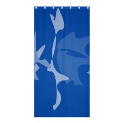 Blue amoeba abstraction Shower Curtain 36  x 72  (Stall)