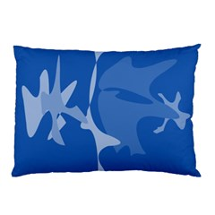 Blue amoeba abstraction Pillow Case (Two Sides)