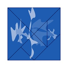 Blue amoeba abstraction Acrylic Tangram Puzzle (6  x 6 )