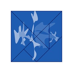 Blue amoeba abstraction Acrylic Tangram Puzzle (4  x 4 )