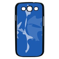 Blue amoeba abstraction Samsung Galaxy S III Case (Black)