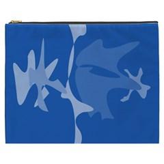 Blue amoeba abstraction Cosmetic Bag (XXXL)