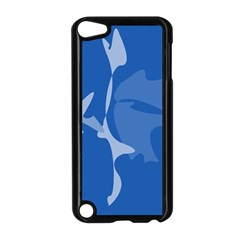 Blue amoeba abstraction Apple iPod Touch 5 Case (Black)