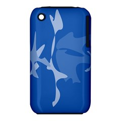 Blue amoeba abstraction Apple iPhone 3G/3GS Hardshell Case (PC+Silicone)