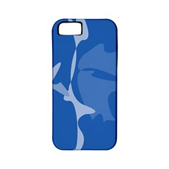 Blue amoeba abstraction Apple iPhone 5 Classic Hardshell Case (PC+Silicone)