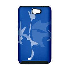 Blue amoeba abstraction Samsung Galaxy Note 2 Hardshell Case (PC+Silicone)