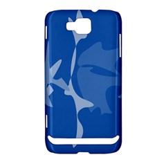 Blue amoeba abstraction Samsung Ativ S i8750 Hardshell Case