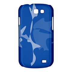 Blue amoeba abstraction Samsung Galaxy Express I8730 Hardshell Case