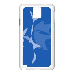 Blue amoeba abstraction Samsung Galaxy Note 3 N9005 Case (White)