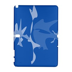 Blue amoeba abstraction Samsung Galaxy Note 10.1 (P600) Hardshell Case