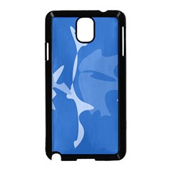 Blue amoeba abstraction Samsung Galaxy Note 3 Neo Hardshell Case (Black)