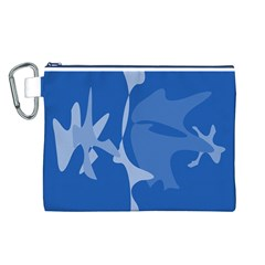Blue amoeba abstraction Canvas Cosmetic Bag (L)