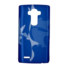 Blue amoeba abstraction LG G4 Hardshell Case