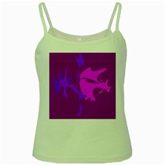 Purple, pink and magenta amoeba abstraction Green Spaghetti Tank
