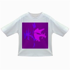 Purple, pink and magenta amoeba abstraction Infant/Toddler T-Shirts
