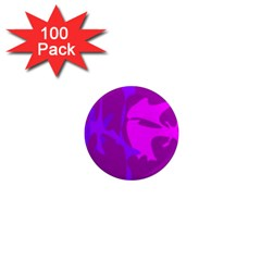 Purple, pink and magenta amoeba abstraction 1  Mini Magnets (100 pack)