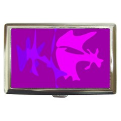 Purple, pink and magenta amoeba abstraction Cigarette Money Cases