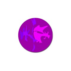 Purple, pink and magenta amoeba abstraction Golf Ball Marker (10 pack)